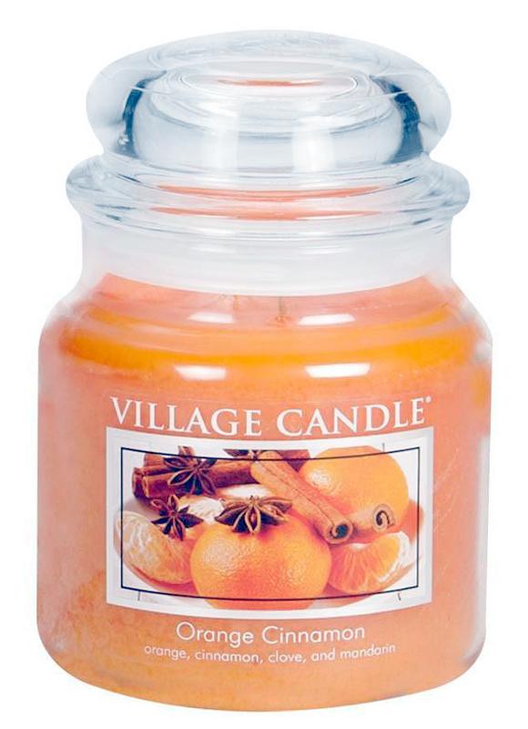 a847197681 Village Candle Střední vonná svíčka ve skle Orange Cinnamon 397g - Pomeranč  a skořice