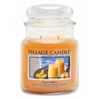 Village Candle Střední vonná svíčka ve skle Peach Bellini 397g - Broskvové Bellini