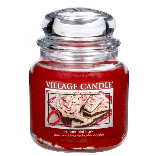Village Candle Peppermint Bark 397g - střední vonná svíčka ve skle Mátové potěšení