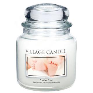 Village Candle Střední vonná svíčka ve skle Powder Fresh 397g - Pudrová svěžest