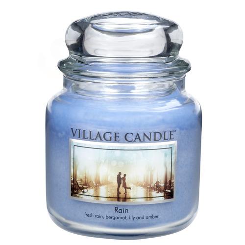 Village Candle Rain 397g - střední vonná svíčka ve skle Déšť