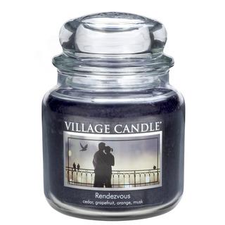 Village Candle Střední vonná svíčka ve skle Rendezvous 397g - Rande