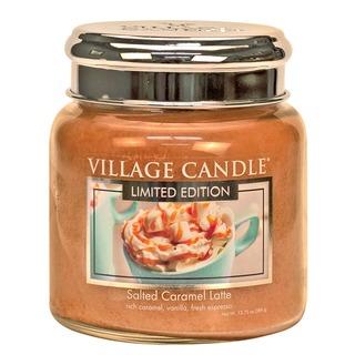 Village Candle Střední vonná svíčka ve skle Salted Caramel Latte 397g