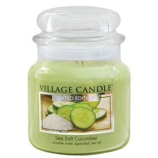 Village Candle Střední vonná svíčka ve skle Sea Salt Cucumber 397g - Mořská svěžest