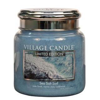 Village Candle Střední vonná svíčka ve skle Sea Salt Surf 397g - Mořský příboj