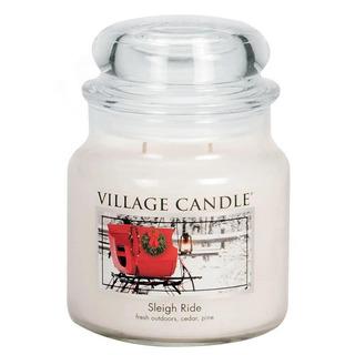 Village Candle Střední vonná svíčka ve skle Sleigh Ride 397g - Zimní vyjížďka