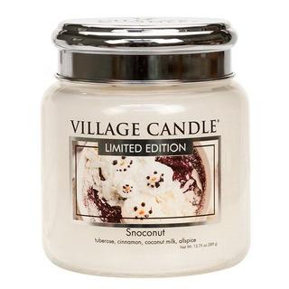 Village Candle Střední vonná svíčka ve skle Snoconut 397g - Kokosový sníh