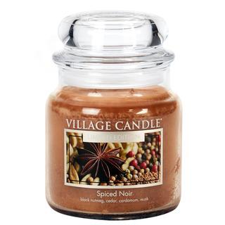Village Candle Střední vonná svíčka ve skle Spiced Noir 397g - Koření života