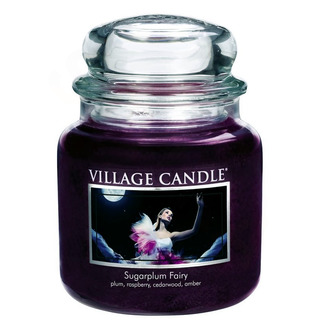 Village Candle Střední vonná svíčka ve skle Sugarplum Fairy 397g - Půlnoční víla