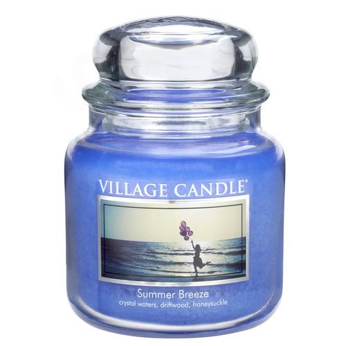 Village Candle Summer Breeze 397g - střední vonná svíčka ve skle Letní vánek