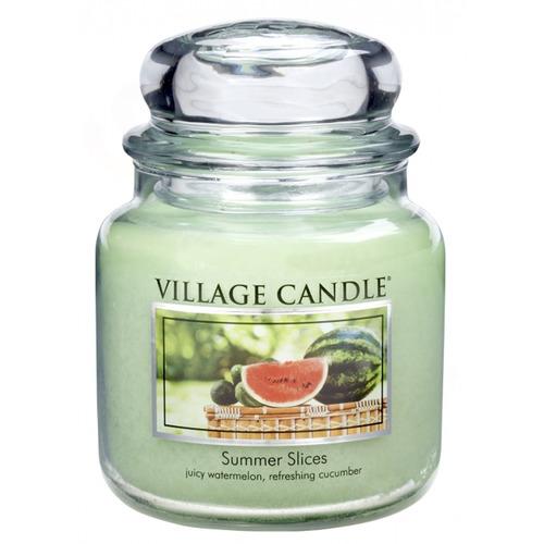 Village Candle Summer Slices 397g - střední vonná svíčka ve skle Letní pohoda
