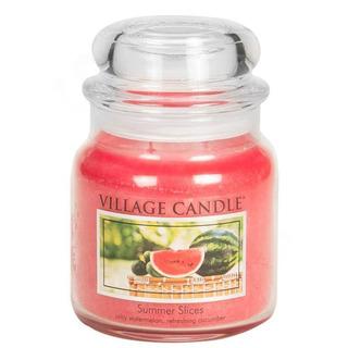 Village Candle Střední vonná svíčka ve skle Summer Slices 397g - Letní pohoda