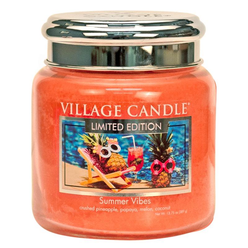 Village Candle Střední vonná svíčka ve skle Summer Vibes 397g