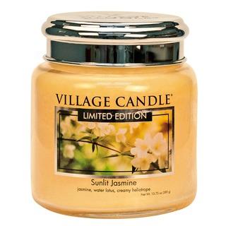 Village Candle Střední vonná svíčka ve skle Sunlit Jasmine 397g