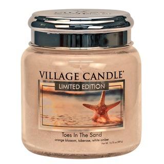 Village Candle Střední vonná svíčka ve skle Toes In The Sand 397g