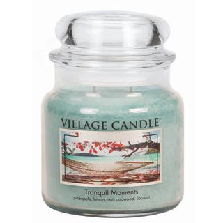 Village Candle Střední vonná svíčka ve skle Tranquil Moments 397g - Jedinečné okamžiky