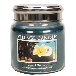Village Candle Střední vonná svíčka ve skle Tropical Getaway 397g - Víkend v tropech