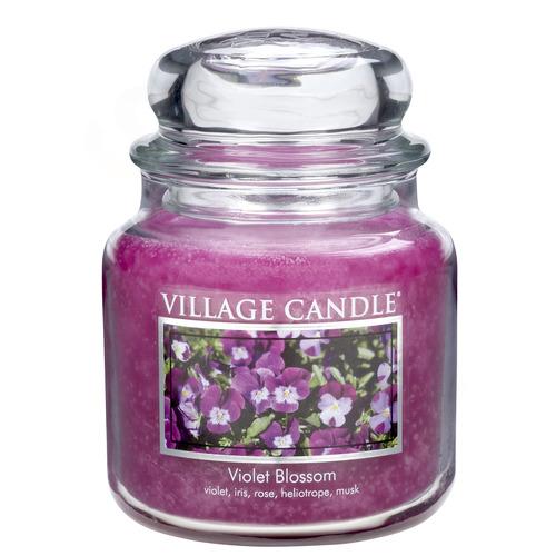 Střední vonná svíčka ve skle Violet Blossom 397g - Fialky
