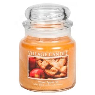 Village Candle Střední vonná svíčka ve skle Warm Apple Pie 397g - Jablečný koláč