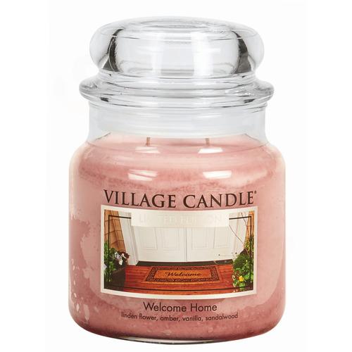 Village Candle Welcome Home 397g - střední vonná svíčka ve skle Vítej doma