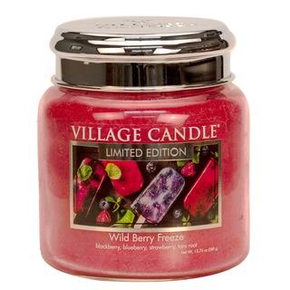Village Candle Střední vonná svíčka ve skle Wild Berry Freeze 397g