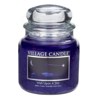 Village Candle Střední vonná svíčka ve skle Wish Upon A Star 397g - Padající hvězda