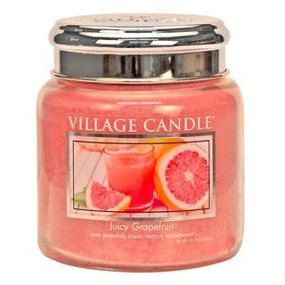 Village Candle Střední vonná svíčka ve skle Juicy Grapefruit 397g