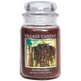 Village Candle Velká vonná svíčka ve skle Acai Berry Tobac 645g - Tabák a plody akai