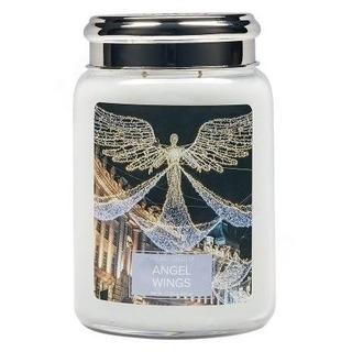 Village Candle Velká vonná svíčka ve skle Angel Wings 645g - Andělská křídla