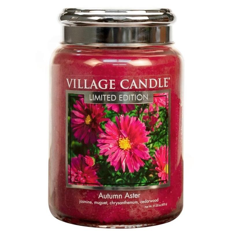 Village Candle Velká vonná svíčka ve skle Autumn Aster 645g - Podzimní hvězdnice