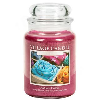 Village Candle Velká vonná svíčka ve skle Autumn Colors 645g - Barvy podzimu