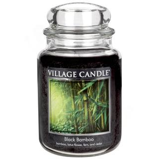 Village Candle Velká vonná svíčka ve skle Black Bamboo 645g - Bambus