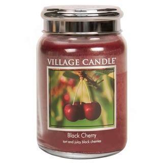 Village Candle Velká vonná svíčka ve skle Black Cherry 645g - Černá třešeň