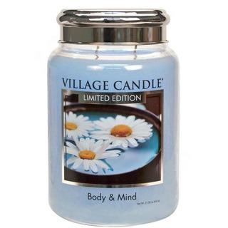 Village Candle Velká vonná svíčka ve skle Body and Mind 645g