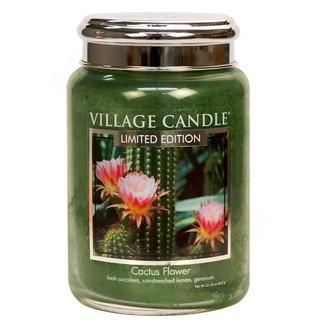 Village Candle Velká vonná svíčka ve skle Cactus Flower 645g