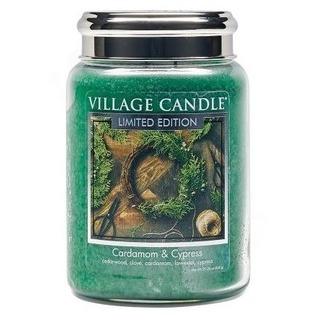 Village Candle Velká vonná svíčka ve skle Cardamom and Cypress 645g - Kardamon a cypřiš