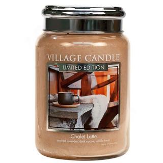 Village Candle Velká vonná svíčka ve skle Chalet Latte 645g - Latté v horské boudě