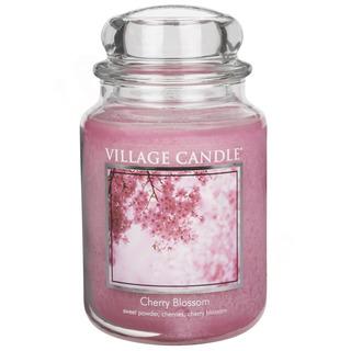 Village Candle Velká vonná svíčka ve skle Cherry Blossom 645g - Třešňový květ