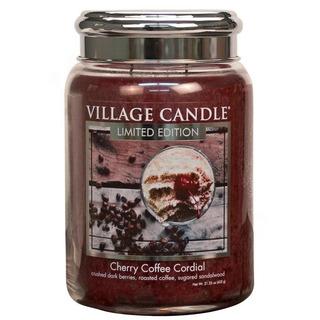 Village Candle Velká vonná svíčka ve skle Cherry Coffee Cordial 645g - Třešňovo kávový likér