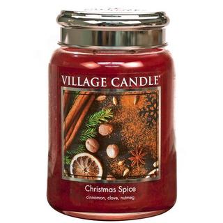 Village Candle Velká vonná svíčka ve skle Christmas Spice 645g - Vánoční koření
