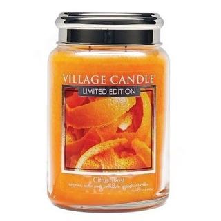 Village Candle Velká vonná svíčka ve skle Citrus Twist 645g - Citrusové osvěžení