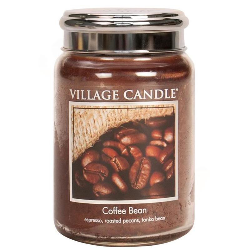 Village Candle Velká vonná svíčka ve skle Coffee Bean 645g - Zrnková káva