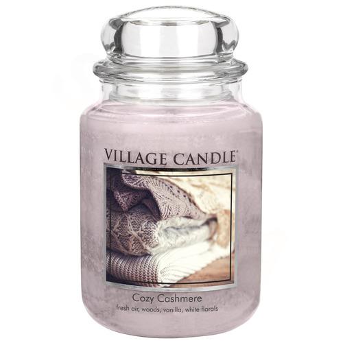 Village Candle Cozy Cashmere 645g - velká vonná svíčka ve skle Kašmírové pohlazení