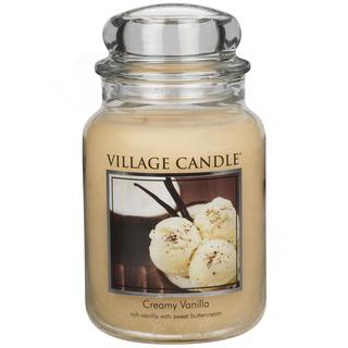 Village Candle Velká vonná svíčka ve skle Creamy Vanilla 645g - Vanilková zmrzlina