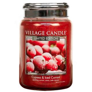 Village Candle Velká vonná svíčka ve skle Cypress and Iced Currant 645g - Cypřiš a zamrzlý rybíz
