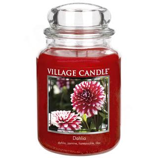 Village Candle Velká vonná svíčka ve skle Dahlia 645g - Jiřina