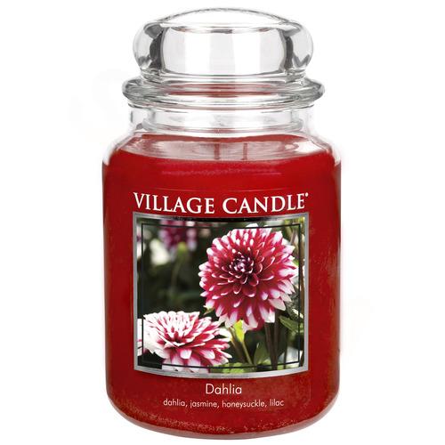 Village Candle Dahlia 645g - velká vonná svíčka ve skle Jiřina