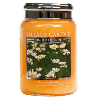 Village Candle Velká vonná svíčka ve skle Dancing Daisies 645g - Tančící sedmikrásky