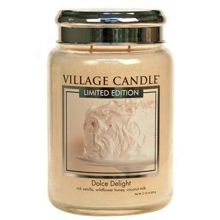 Village Candle Velká vonná svíčka ve skle Dolce Delight 645g - Sametové potěšení
