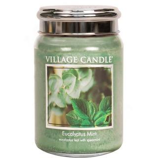 Village Candle Velká vonná svíčka ve skle Eucalyptus Mint 645g - Eukalyptus a máta
